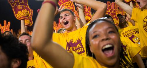 Incoming freshman show their school spirit at the Sun Devil Welcome.