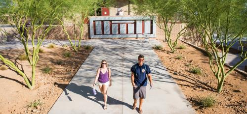 students walking on ASU Colleges at Lake Havasu City