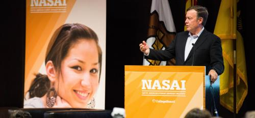President Crow speaks at the NASAI conference