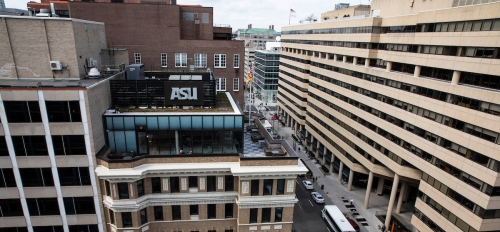Scenic shot of the ASU in DC building