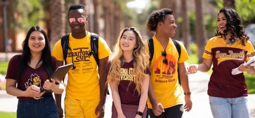 Students at palm walk