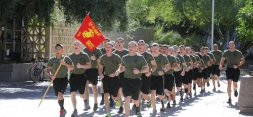 Naval ROTC celebrate Marine Corps 238th birthday with 238 mile relay.