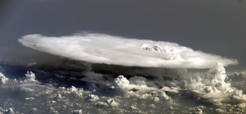 anvil cloud over western Africa