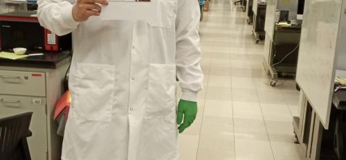 ASU grad in laboratory