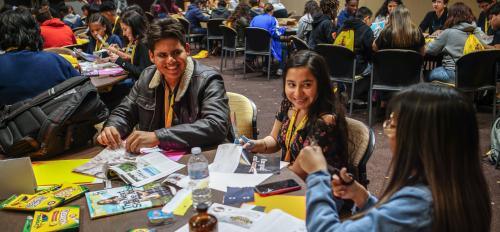 Students participate in activity at AVID conference