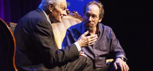 Screen legend Alan Alda and ASU physicist Lawrence Krauss