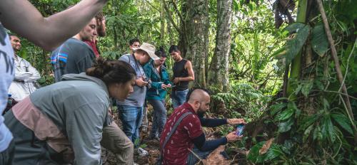 Students in Tena, Ecuador.