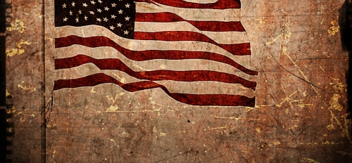 American flag textured