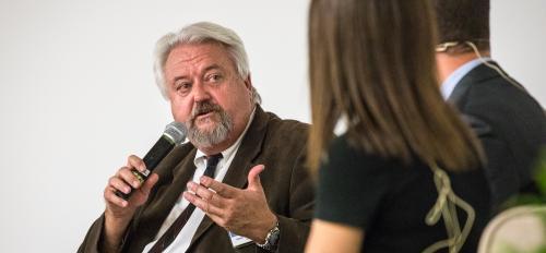 Joseph Drazkowski speaking at event