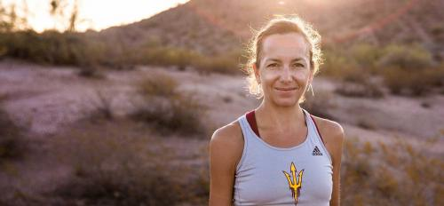 ASU Lecturer Victoria Jackson on a desert hike
