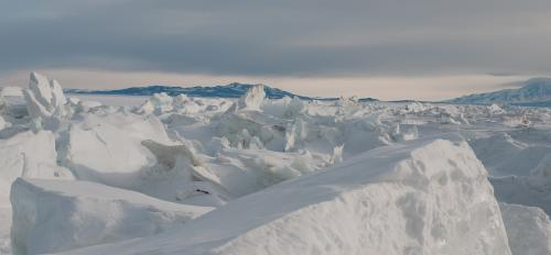 Thick patches of Antarctic ice