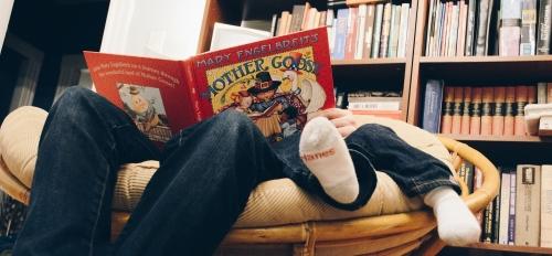 people reading nursery rhymes