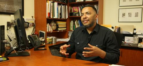 Carnell Chosa in his office in Santa Fe