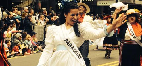 woman dancing in a parade