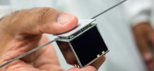 The SunCube FemtoSat, designed at ASU.