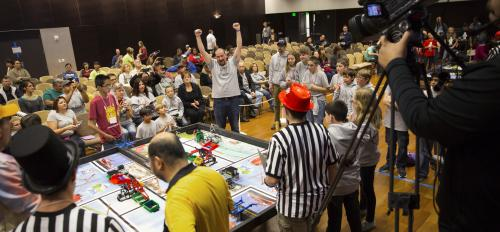 young students compete in the Arizona FIRST LEGO League