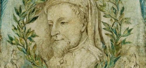William Blake print of Geoffrey Chaucer