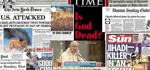 religion headline collage
