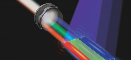 An illustration of how white lasers are put together