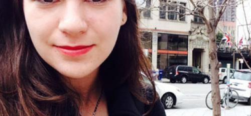 Superstition Review intern Jess Fletcher in Minneapolis