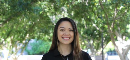 ASU spring 2019 graduate Alereese Gonzalez on the Tempe campus