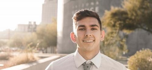 Portrait of ASU grad Mason Ford