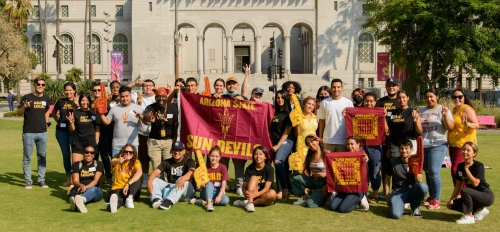 ASU Local students attend fall commencement event in Los Angeles park.