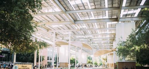 solar shade structure on ASU Tempe campus