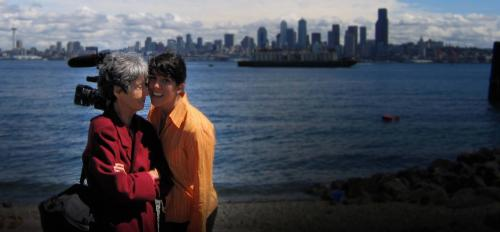 Photo of Maria Irene Fornes and filmmaker Michelle Memran