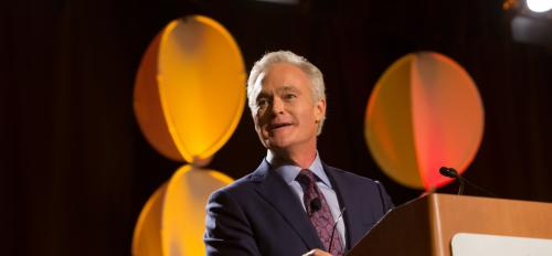 Scott Pelley accepts the 2016 Walter Cronkite Award for Excellence in Journalism
