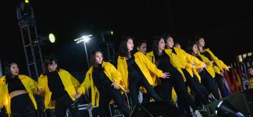 AZNA ASU students perform onstage at International Night 2019