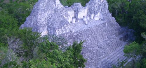 Photo of the ancient site of Becan in the Central Maya Lowlands