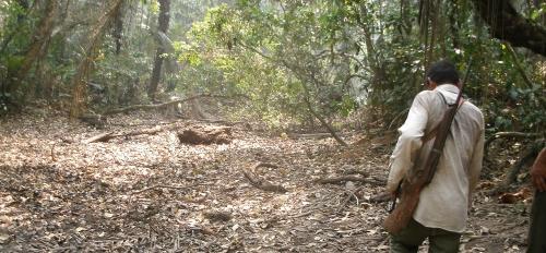 Tsimane hunters in Bolivia