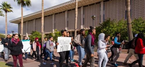 ASU group rallies in support of Mizzou