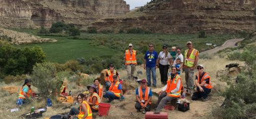 Nine Mile Canyon excavation group