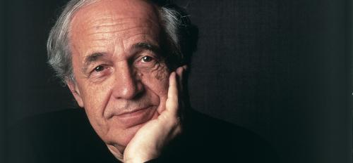 Photograph of composer and conductor Pierre Boulez.