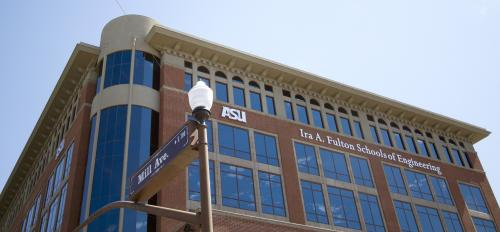 Outside view of the Brickyard building on the ASU campus