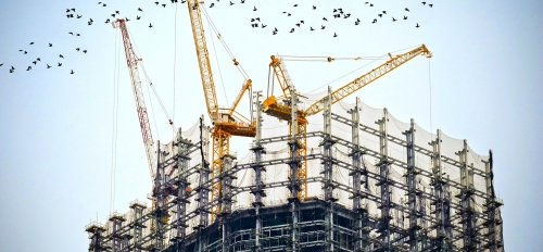 cranes and contruction