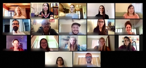 screenshot of a Zoom meeting between ASU students and Judge Jerlie Requerme