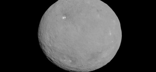 image of dwarf planet Ceres as seen by NASA's Dawn spacecraft