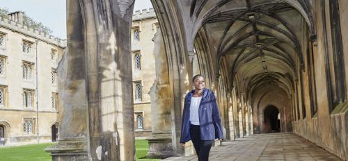 ASU student Charity Bhebhe at Cambridge