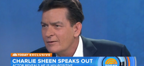 A screen grab of Charlie Sheen on the Today Show