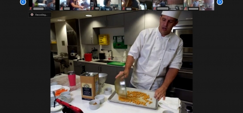 Kent Moody demonstrates a recipe