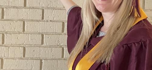 ASU Online student and 2021 Graduate Christina Schroth