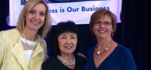 Christine K. Wilkinson (center)