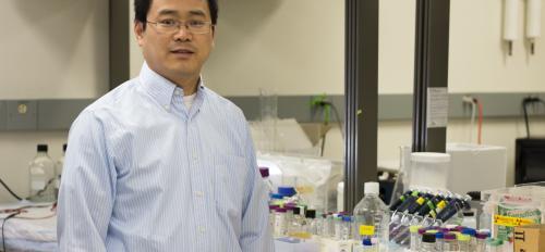 professor in lab