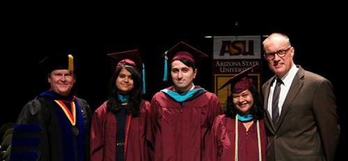 student group at convocation