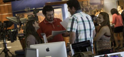 ASU students working on Cronkite Newswatch