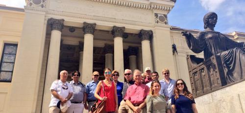 ASU delegation outside a Cuba university