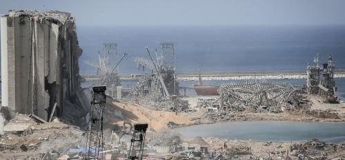 Damages after 2020 Beirut explosion